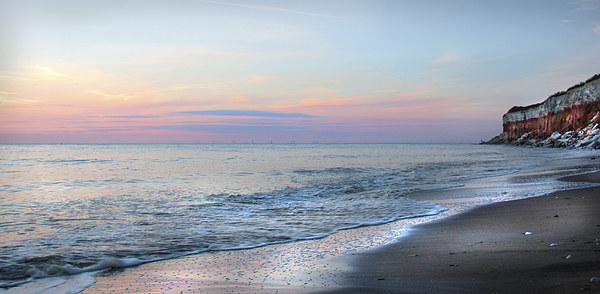 Hunstanton Sunset Glow Canvas print by Mike Sherman Photography