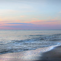 Buy canvas prints of Hunstanton Sunset Glow by Mike Sherman Photography