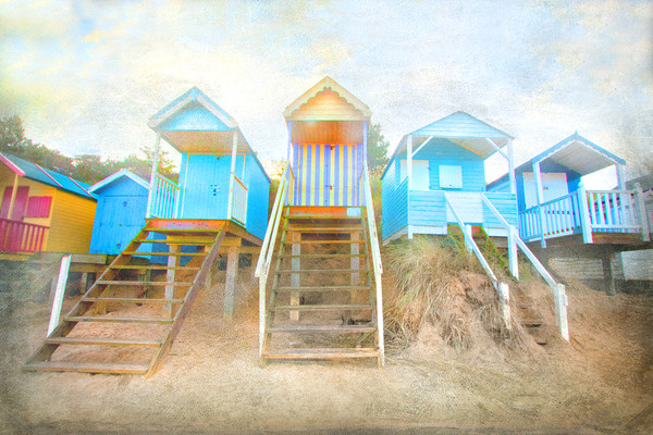 Wells-Next-The-Sea Beach Huts  Canvas print by Mike Sherman Photography