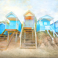 Buy canvas prints of  Wells-Next-The-Sea Beach Huts  by Mike Sherman Photography