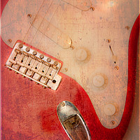 Buy canvas prints of Textured Guitar four by Mike Sherman Photography