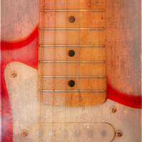 Buy canvas prints of Textured Guitar two by Mike Sherman Photography