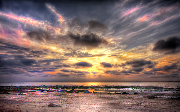 Hunstanton Sunset Canvas print by Mike Sherman Photography