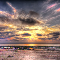 Buy canvas prints of Hunstanton Sunset by Mike Sherman Photography