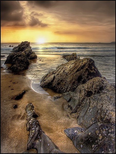 Sunset in Cornwall Canvas print by Mike Sherman Photography