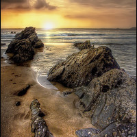Buy canvas prints of Sunset in Cornwall by Mike Sherman Photography