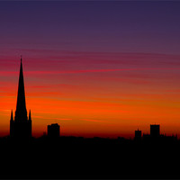 Buy canvas prints of Last Light Behind Norwich Cathedral 2 by Paul Macro