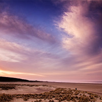 Buy canvas prints of Last Light over Holkham Beach by Paul Macro