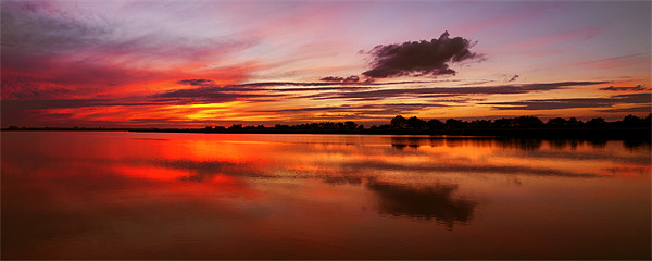 Horsey Mill Sunset Panoramic Canvas print by Paul Macro