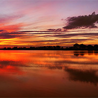 Buy canvas prints of Horsey Mill Sunset Panoramic by Paul Macro