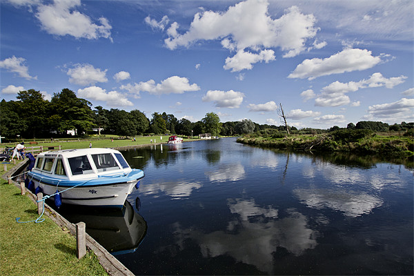 Moored at Coltishall Common Canvas print by Paul Macro