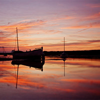Buy canvas prints of Fire in the Sky in Burnham Overy Staithe by Paul Macro