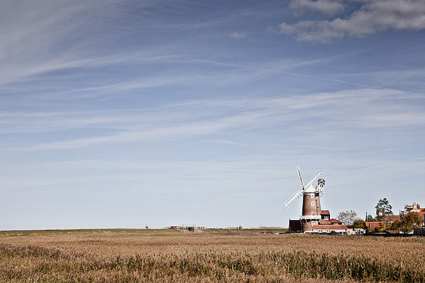 Cley Windmill Framed Mounted Print by Paul Macro