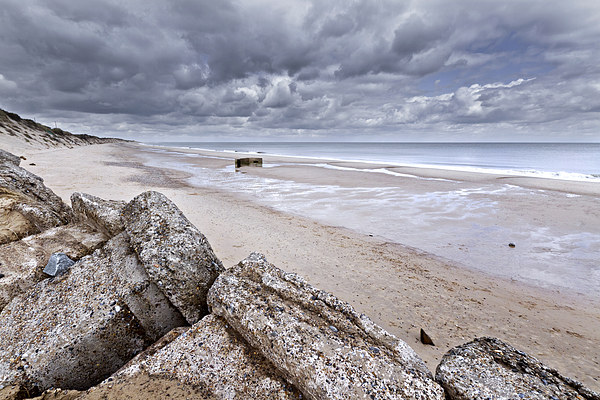 Hemsby Pillbox Canvas Print by Paul Macro