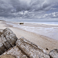 Buy canvas prints of Hemsby Pillbox by Paul Macro