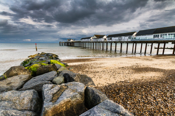 Stormy Southwold Pier Canvas print by Paul Macro