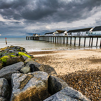 Buy canvas prints of Stormy Southwold Pier by Paul Macro