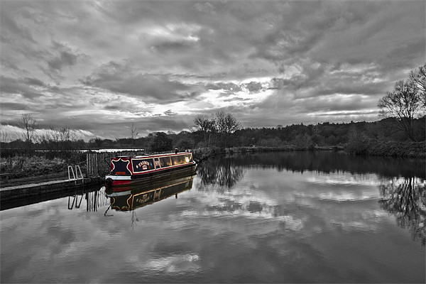 Canal Boat Colour Splash HDR Canvas print by Paul Macro