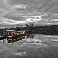 Buy canvas prints of Canal Boat Colour Splash HDR by Paul Macro