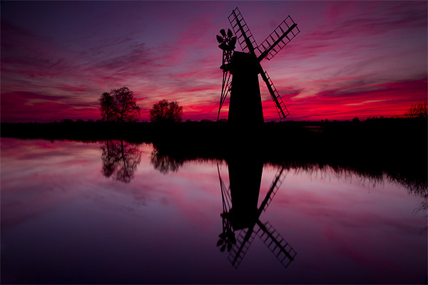 Stunning Norfolk Sunset Framed Mounted Print by Paul Macro
