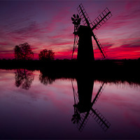 Buy canvas prints of Stunning Norfolk Sunset by Paul Macro