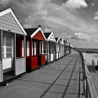 Buy canvas prints of More Southwold Beach Huts selective by Paul Macro