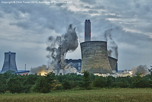 Didcot Power Station - South Towers Demolition Canvas print by Chris Turner