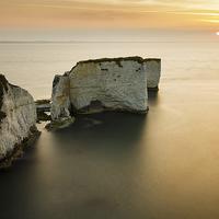 Buy canvas prints of Sunrise Old Harry Rocks by Ian Middleton
