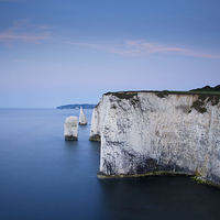 Buy canvas prints of Sunrise Old Harry Rocks by Ian Middleton