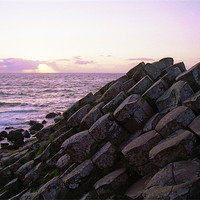 Buy canvas prints of Giants Causeway at dusk by Ian Middleton