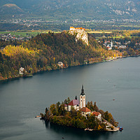 Buy canvas prints of View of Lake Bled from Mala Osojnica by Ian Middleton