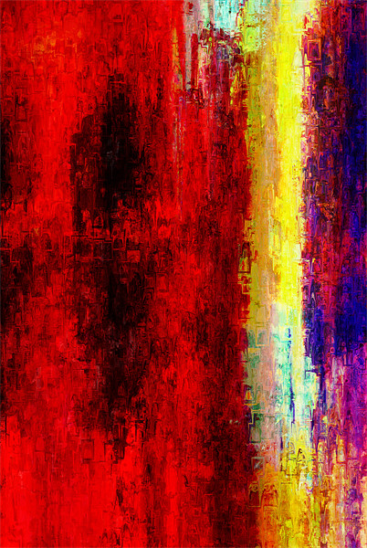 Ragion abstraction Canvas Print by Jean-François Dupuis