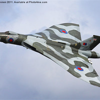 Buy canvas prints of Avro Vulcan bomber XH558 at Abingdon Air Show by Aviation Prints