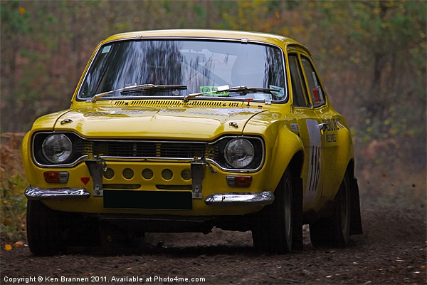 Ford Rally Escort Canvas print by Aviation Prints