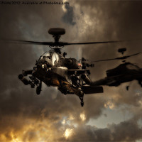 Buy canvas prints of Apache storm by Aviation Prints