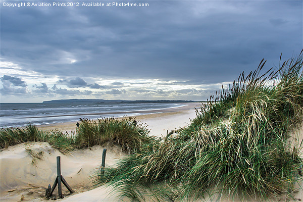 Camber Sands Beach Dunes Canvas print by Aviation Prints