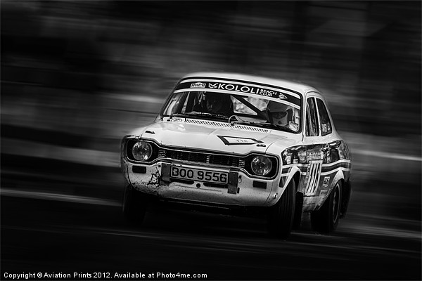 Ford Escort Mk1 tempest rally Canvas print by Aviation Prints