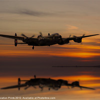 Buy canvas prints of Lancaster Bomber Landfall by Aviation Prints