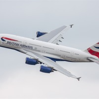 Buy canvas prints of British Airways Airbus A380 by Aviation Prints