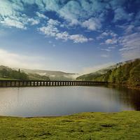 Buy canvas prints of Ladybower reservoir Peak District by Aviation Prints