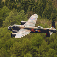 Buy canvas prints of Lancaster at Derwent Dam by Aviation Prints
