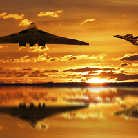 Buy canvas prints of Vulcan Bomber Sunset by Aviation Prints