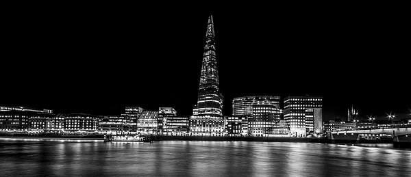 Shard Black and White Canvas print by Aviation Prints