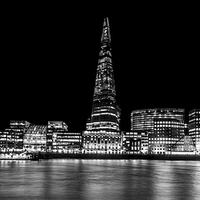 Buy canvas prints of Shard Black and White by Aviation Prints