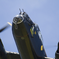 Buy canvas prints of Lancaster Bomber close up by Aviation Prints