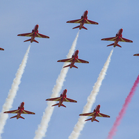 Buy canvas prints of Red Arrows formation by Aviation Prints