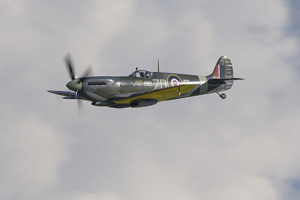 Spitfire MH434 flying Canvas Print by Aviation Prints