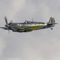 Buy canvas prints of Spitfire MH434 flying by Aviation Prints