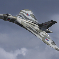 Buy canvas prints of Vulcan Bomber XH558 Flying by Aviation Prints