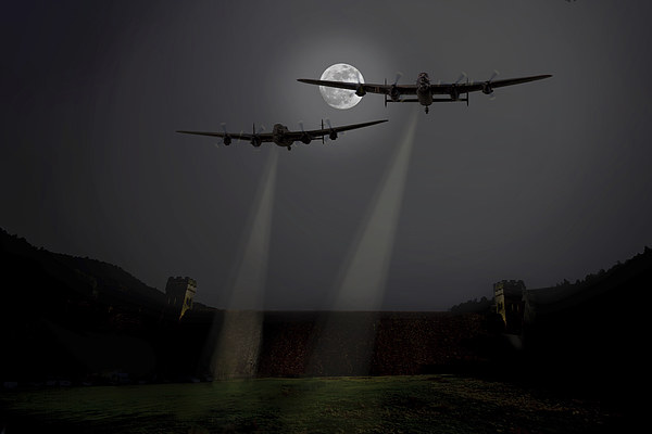 Moonlight training sortie Canvas print by Aviation Prints